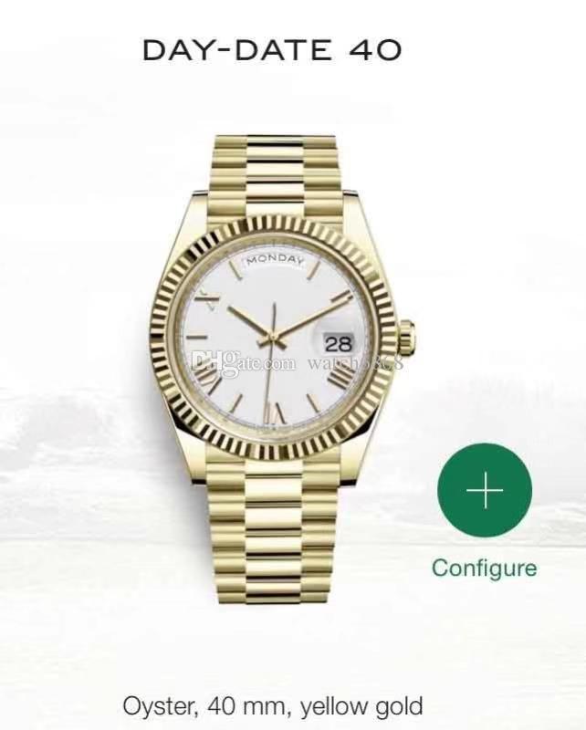 Calendario 40 millimetri orologio dei nuovi uomini meccanico automatico dell'acciaio inossidabile della vigilanza Dat-Date degli uomini di 30M impermeabile vigilanza di affari