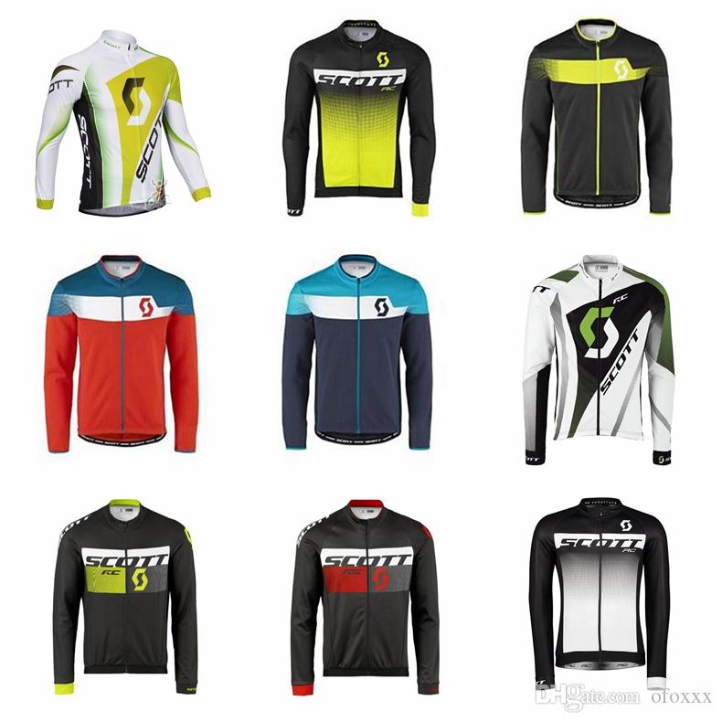 Maglia da ciclismo SCOTT Maglia manica lunga primavera autunno uomo manica lunga moda sport all'aria aperta maglia maglia attrezzatura da ciclismo S8269