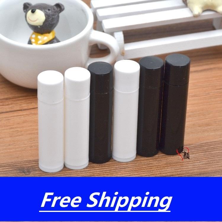 5g Пустые бальзам для губ трубки помады бутылка черный, белый DIY упаковки контейнера Бесплатная доставка