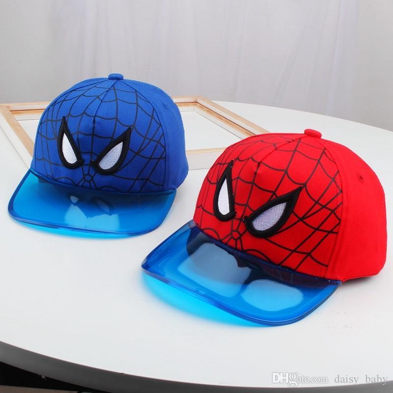 2019 осень Детских бейсболок Хлопка Дети Регулируемых бейсболки Cap Spider-Man Мальчики Girl мод Черного Chapeu MZ7836