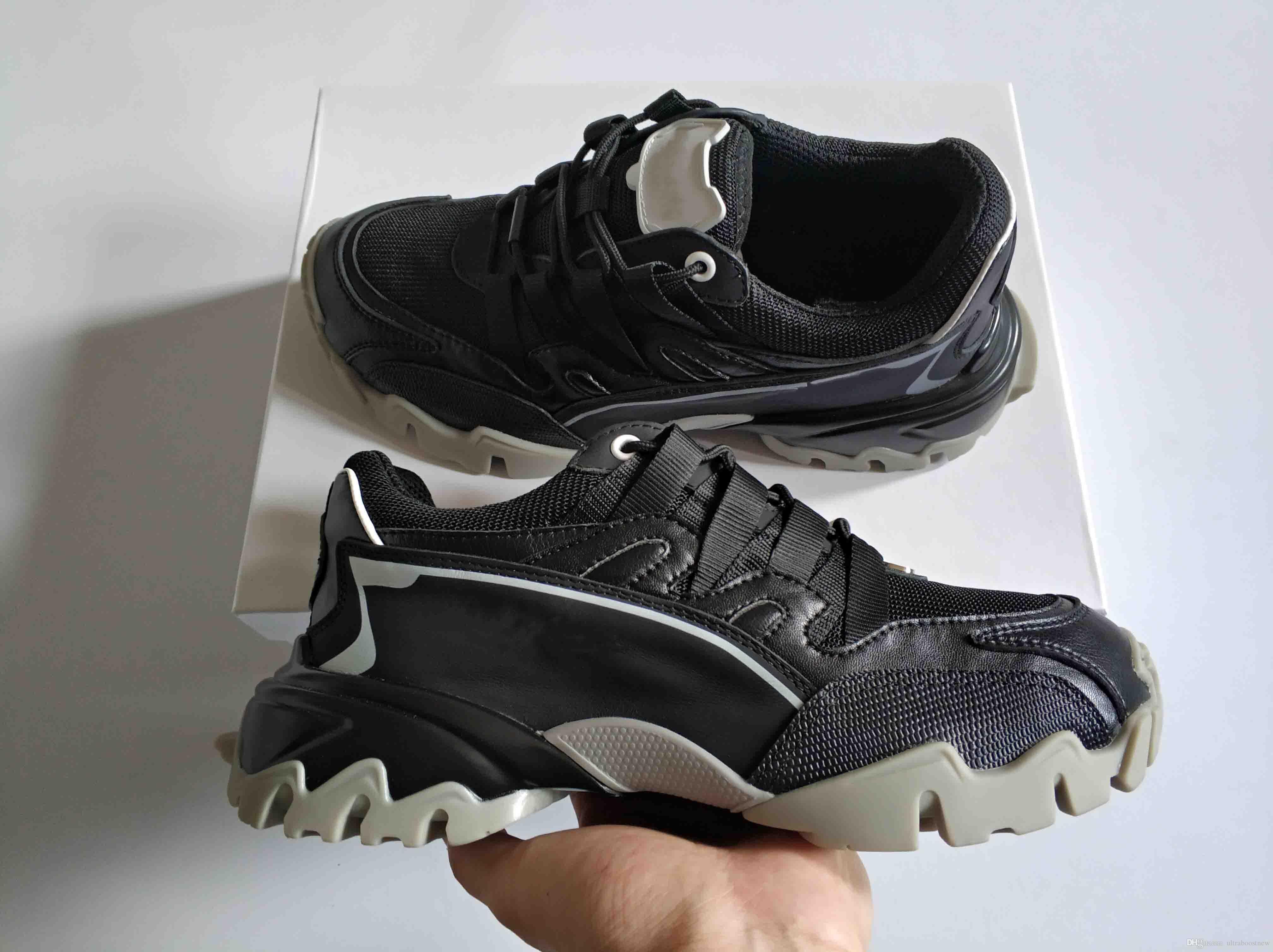 kutu 35-46 ile ayakkabılar en kaliteli çalışan kumaş gerçek deri 13 renk VLOGO Kauçuk taban ldesigner Yeni Moda Erkek Kadın dağcı spor ayakkabısı