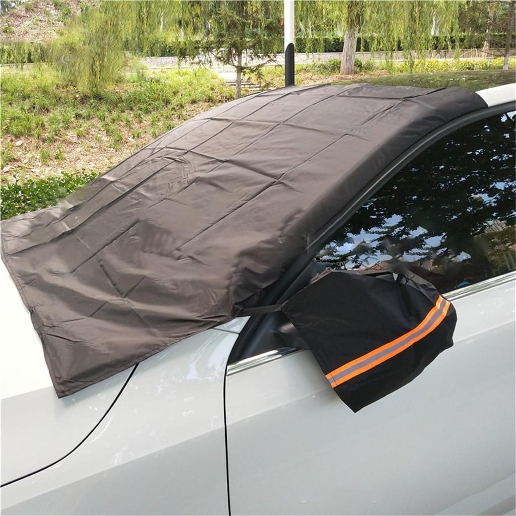 Araba Cam Güneşlik Kapak Universal Araç Yağmur Buz Kar Koruyucu Anti Sun UV Isı Ön Cam Kalın SUV Kapak