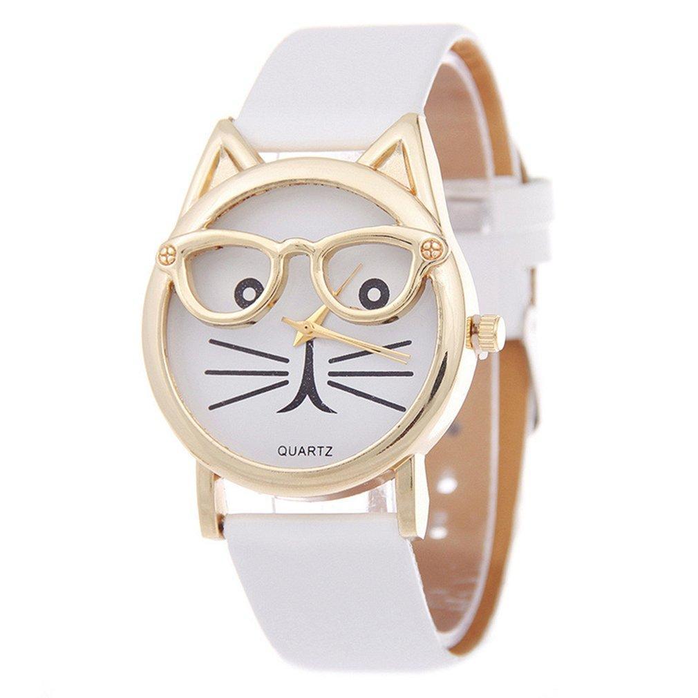 Presentes Quartz Relógios Crianças Relógios de mão Mulheres bonito do gato Relógio Feminino Relógio Mulheres vestido de damas Relógios