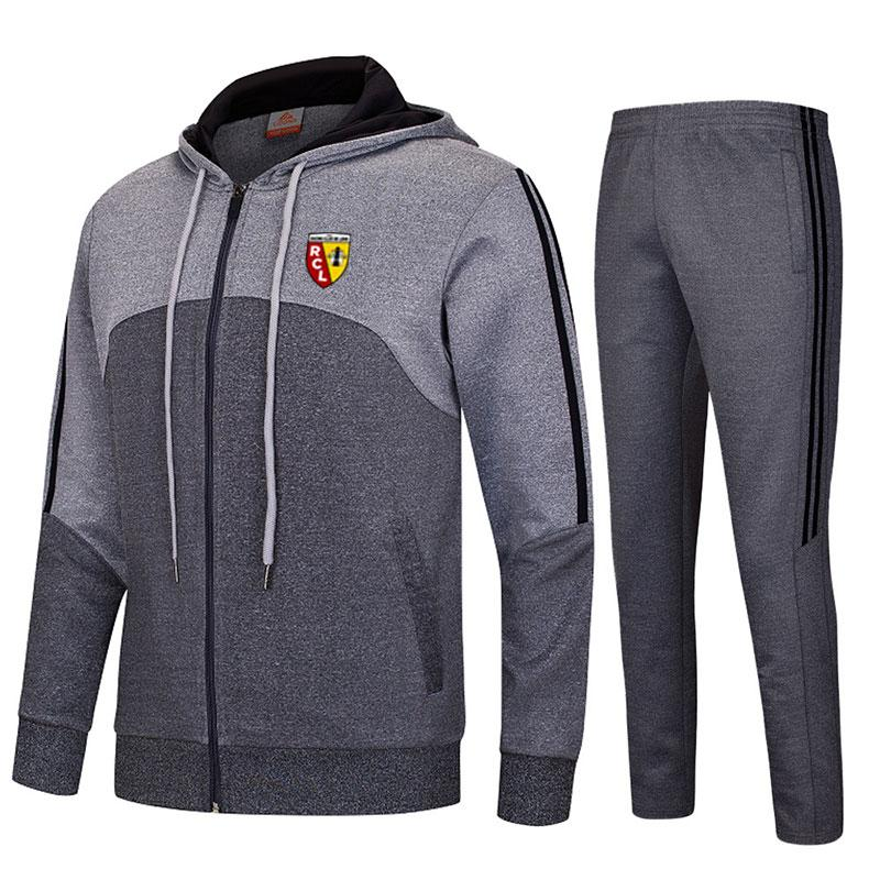 RC Lens 2020 весна / осень зима спортивный новый спортивный костюм куртки футбол длинный отрезок спортивная одежда спортивный костюм хлопка костюм работает