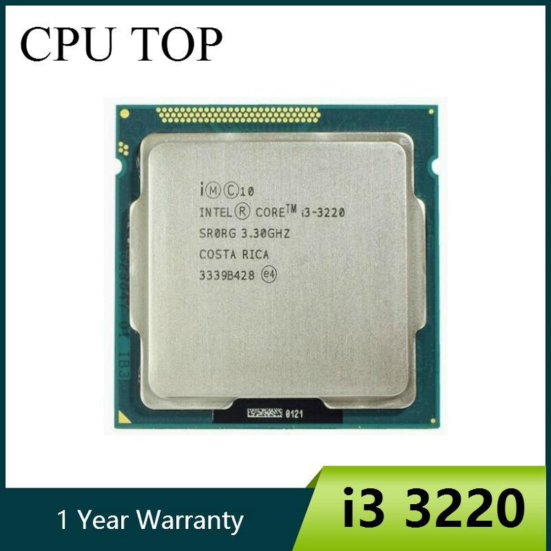 I3 وحدات المعالجة المركزية رخيصة الأصل كور 3220 المعالج CPU ثنائي النواة 3.3GHz LGA 1155 TDP 55W 3MB ذاكرة التخزين المؤقت مع HD الرسومات سطح المكتب