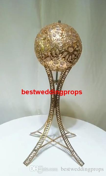 Nuevo estilo de oro / plata decoración de la boda de cristal de pie centros de bolas de flores best0968