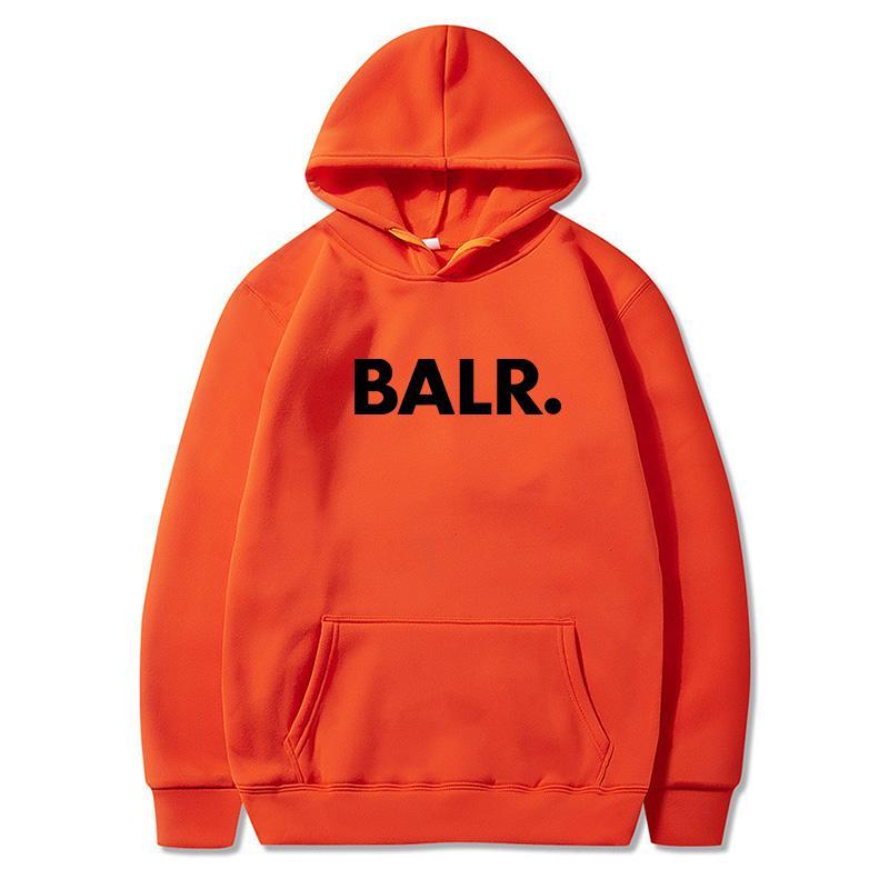 Nueva Balr marca de moda de los hombres ocasional sólida salvaje Sudadera con capucha Hombre simples de los hombres delgados Hoodies Tops