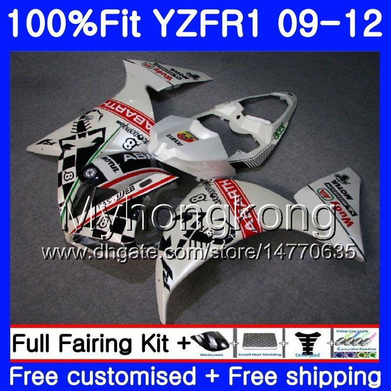 야마하 YZF 1000 R 1 YZF R1 2009 2010 2011 2012 241HM.44 YZF-1000 스콜피온 레드 핫 YZF-R1 YZF1000 YZFR1 09 10 11 12 페어링 키트