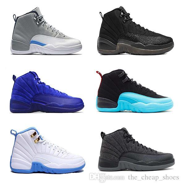 12s Basketbol Ayakkabı Erkekler 12 Ters Taksi oyunu Kraliyet Siyah Spor Salonu Kırmızı Grip oyunu Hava Gama Mavi Erkek Spor Sneakers Retro Boyutu 8-13