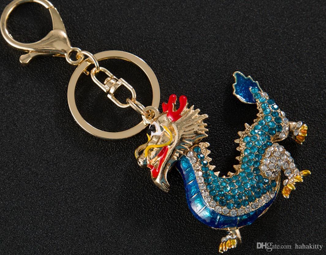 HYS59 Criativo Chinês Dragão Modelo Liga Chaveiro Meninas Sacos de Enforcamento Venda Quente Acessórios Do Carro Presentes de Acidade Big Evento DHL