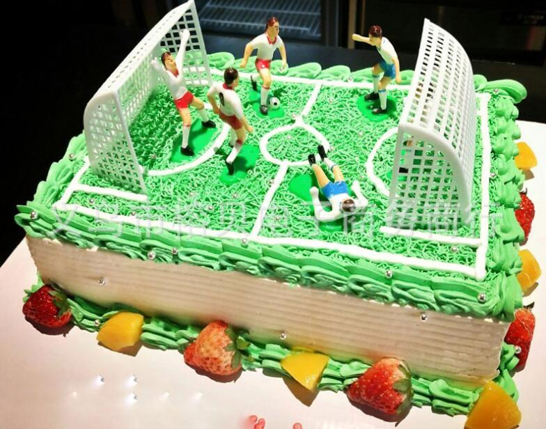 1 Set Football Game Cake Topper DIY kids Birthday party cake decoration Kids Doll Toy Soccer Baking Cupcake Party Supplies