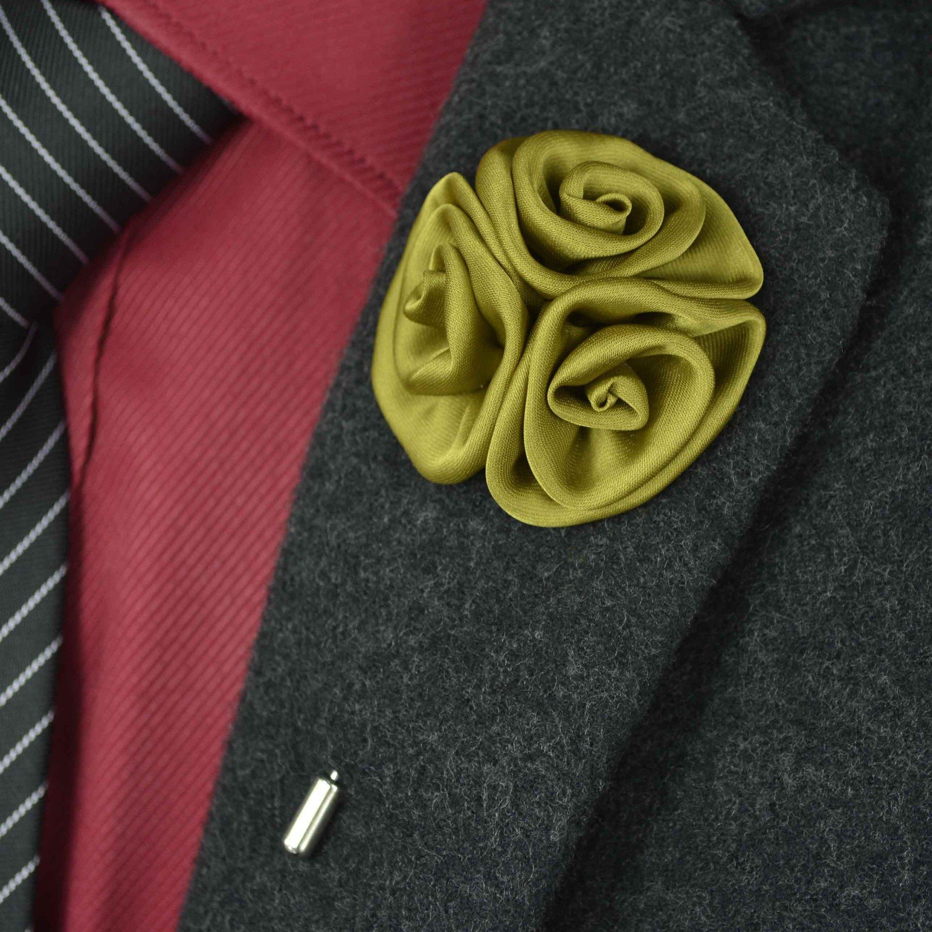 Erkekler Mayo Aksesuarlar Chirstmas Hediyeler Classic Çiçek Broş Yaka Pin Moda Tasarımcısı El yapımı Erkekler Katı Çiçek Broş Yaka Pin
