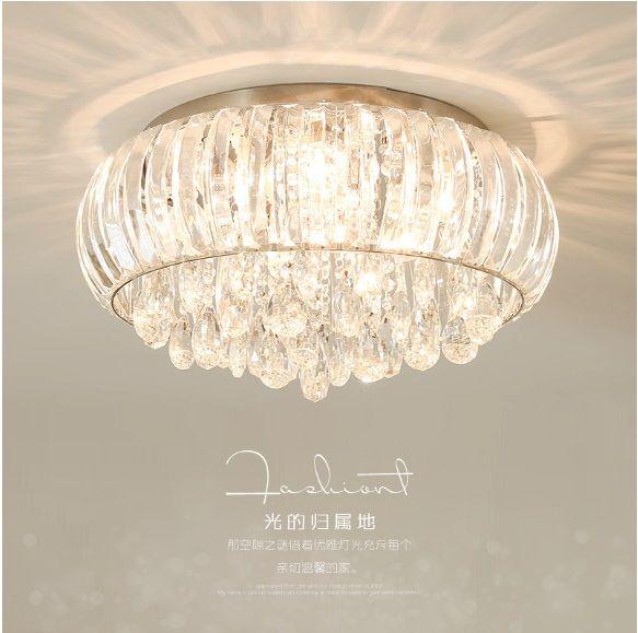 Großhandel Led Deckenleuchte Runde Kristall Lampe Wohnzimmer Lampe Moderne  Minimalistische Schlafzimmer Lampen Warme Romantische Lampen Led ...