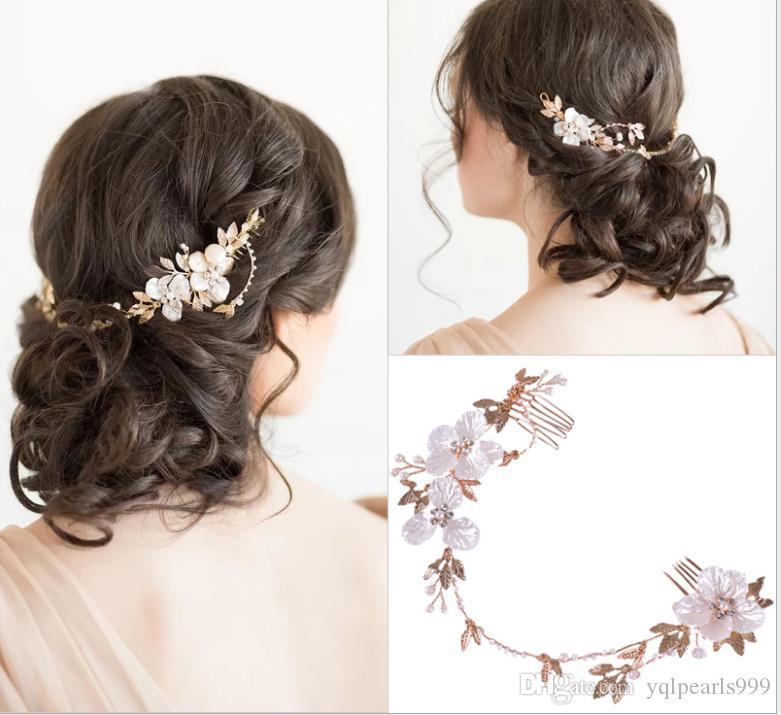 Новые европейские и американские горячие головные уборы Жемчужный цветок оголовье волос группа свадебные украшения