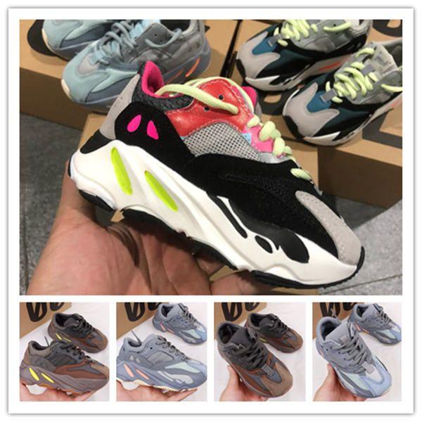 Kids Shoes del bambino del bambino Run scarpe da tennis di Kanye West YEZ 700 Running Shoes infantili ragazzi e ragazze Chaussures pour enfants EUR28-35