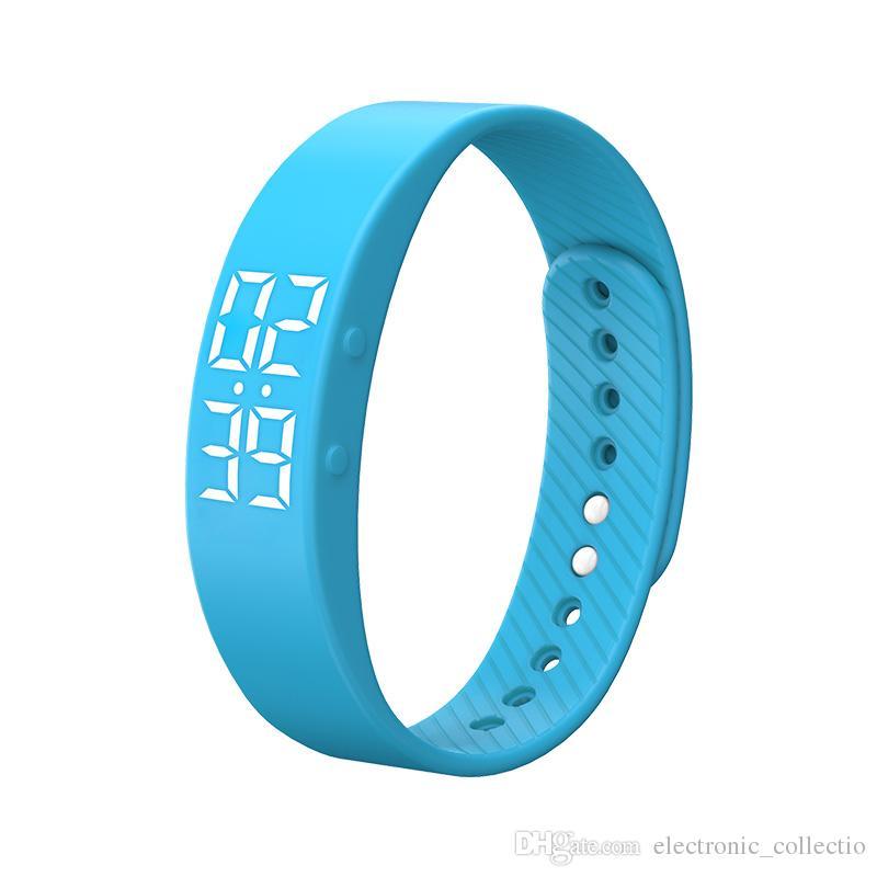 Smart Bracelet, T5s Smart Wristband Fitness Tracker Pedometer Bracelet Calorie Counter Timer