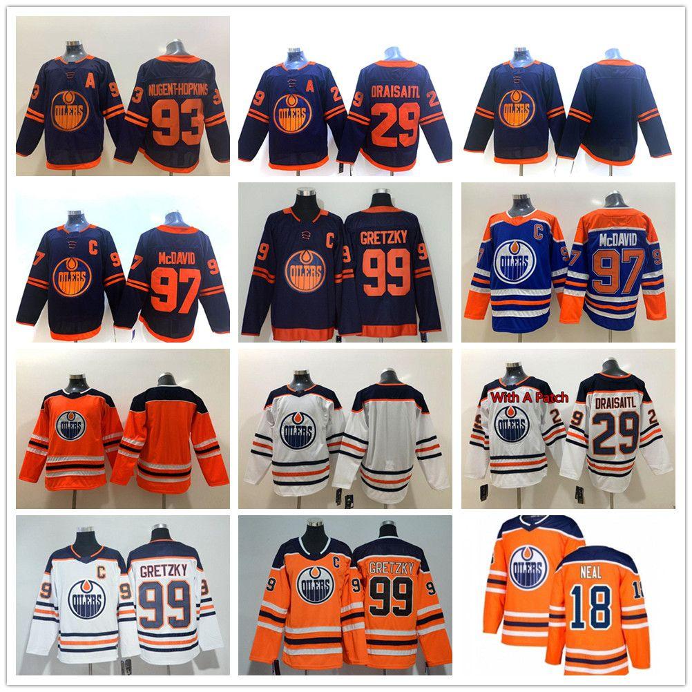 Edmonton Oilers 2019-2020 Terceiro Jerseys 97 Connor McDavid Jersey 29 leon draisaitl 93 Ryan Nugent-Hopkins Hockey Jerseys