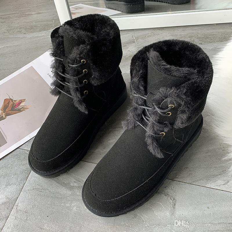 Großhandel Damen Winterstiefel Frauen Winter Schuh Flache Ferse Knöchel Beiläufige Nette Warme Schuhe Fashion Schnee Stiefel Damenstiefel Art. Nr. XDX
