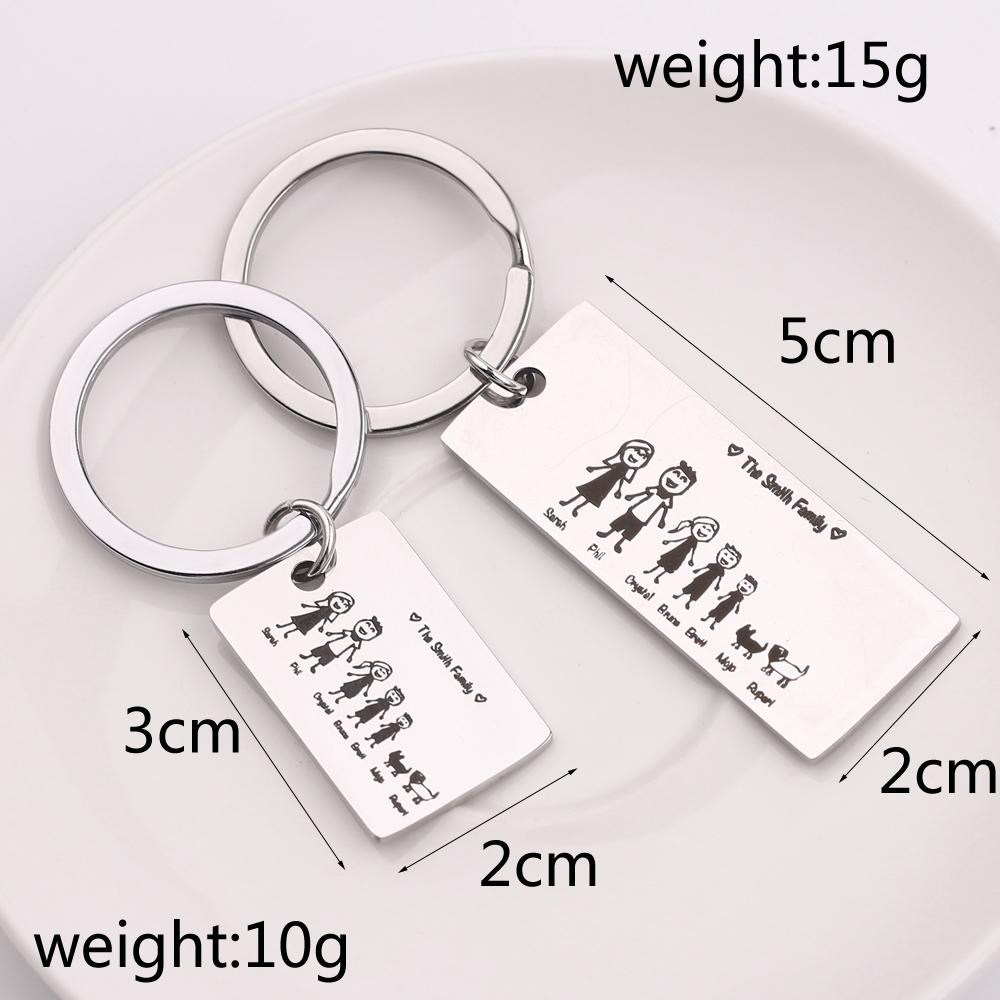 Personalised Photo Engraved Square Keyring Keychain Valentine/'s Day Gift!