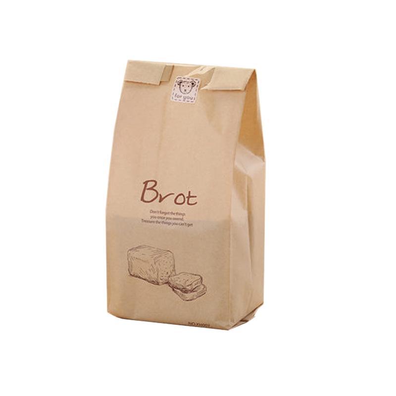 كرافت وجبة خفيفة حقيبة في كيس ورقي شفافة لخبز الخبز التخزين البسكويت الفشار نخب (100 قطعة)