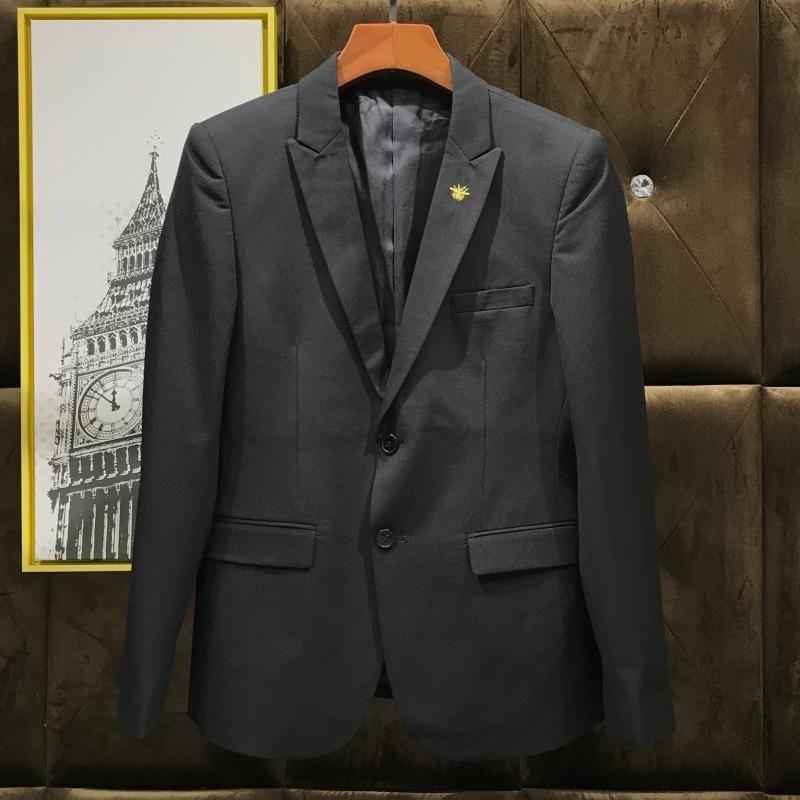 Top qualité Chic Bee Broderie Casual Smart Hommes 3Pcs Tenues Bureau d'affaires formel Vêtements de travail Costumes Slim Fit robe de mariée