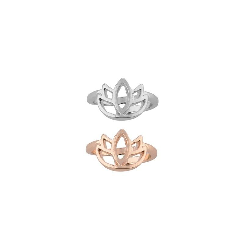Sunmmer Lotus Flower Adjustable Toe Ring Open Foot Finger Ring Jewelry Accessories Gift
