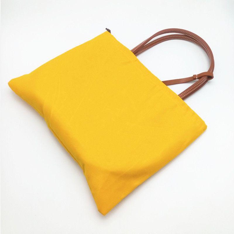 Fashion Women Shopping Bag pequena praia sacos com couro genuíno guarnição e Handle Mini Reversível Totes com saco de poeira