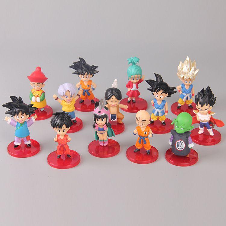 13pcs Dragon Ball Z Figures Son Goku Gohan Kids Toy Anime DBZ Vegeta Trunks Pan