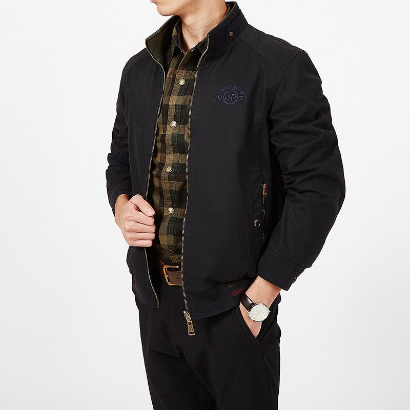 Ropa de marca chaqueta chaqueta de los hombres abrigos otoño militar masculino de doble cara suelta Jaqueta Masculina de algodón puro Tamaño más 7XL 8XL DT191023