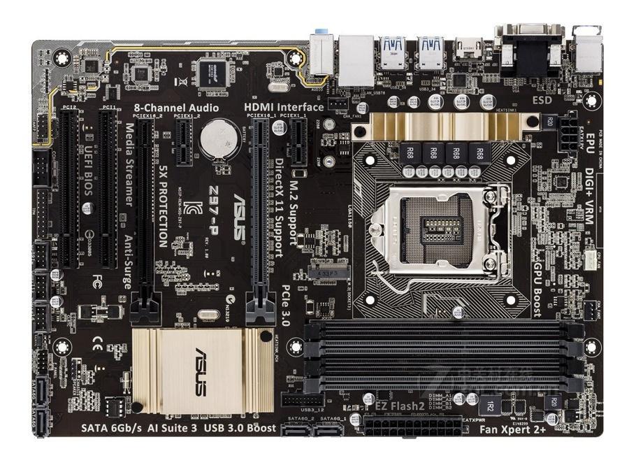 Original Motherboard for Asus Z97-P LGA 1150 DDR3 i7 i5 i3 32GB SATA3  USB2 0 USB3 0 ATX Z97 Desktop motherboards free shipping