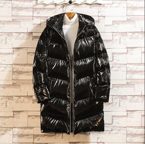 Новый 2020 мода яркий серебряный зимний мужской пиджак толстой хлопковой телогрейки мужской и пальто с капюшоном теплое пальто