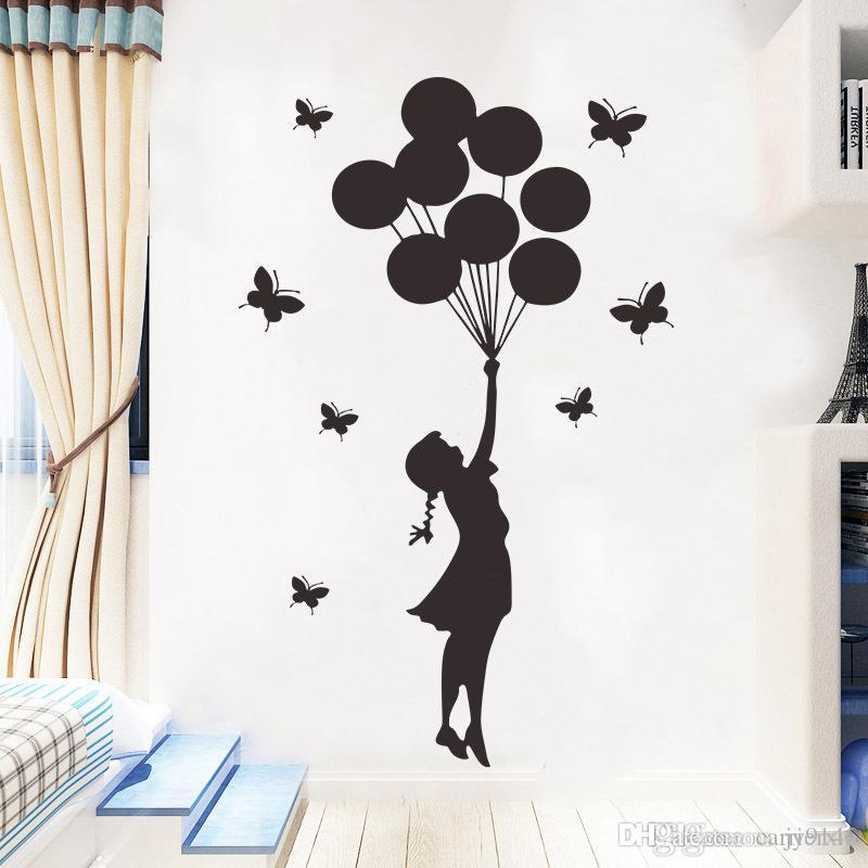 BANKSY BALLOON GIRL Wall Decal Stickers Home room Decor Art Removable M