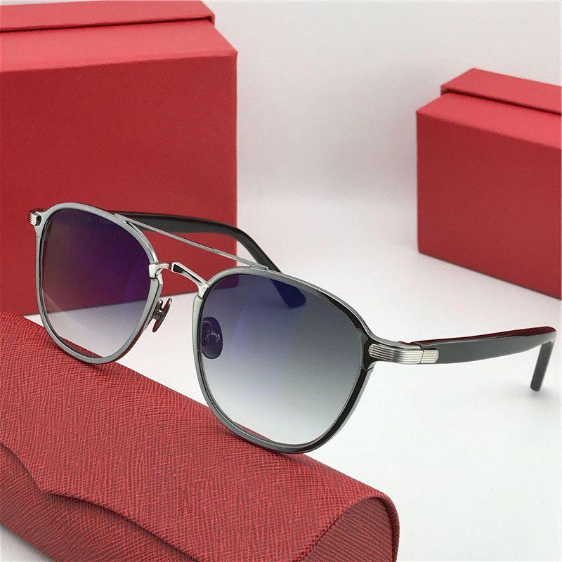 Atacado-New designer de moda óculos de sol 0012 retro rodada k estrutura de ouro tendência de proteção de estilo avant-garde óculos de qualidade superior com caixa