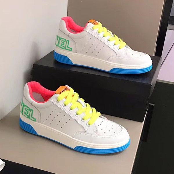 CHANEL   2020o Vera pelle Flats scarpe da ginnastica di marca uomini donne Classic Casual Shoes pitone tigre ape Fiore ricamato di cazzo amore scarpe da ginnastica h3