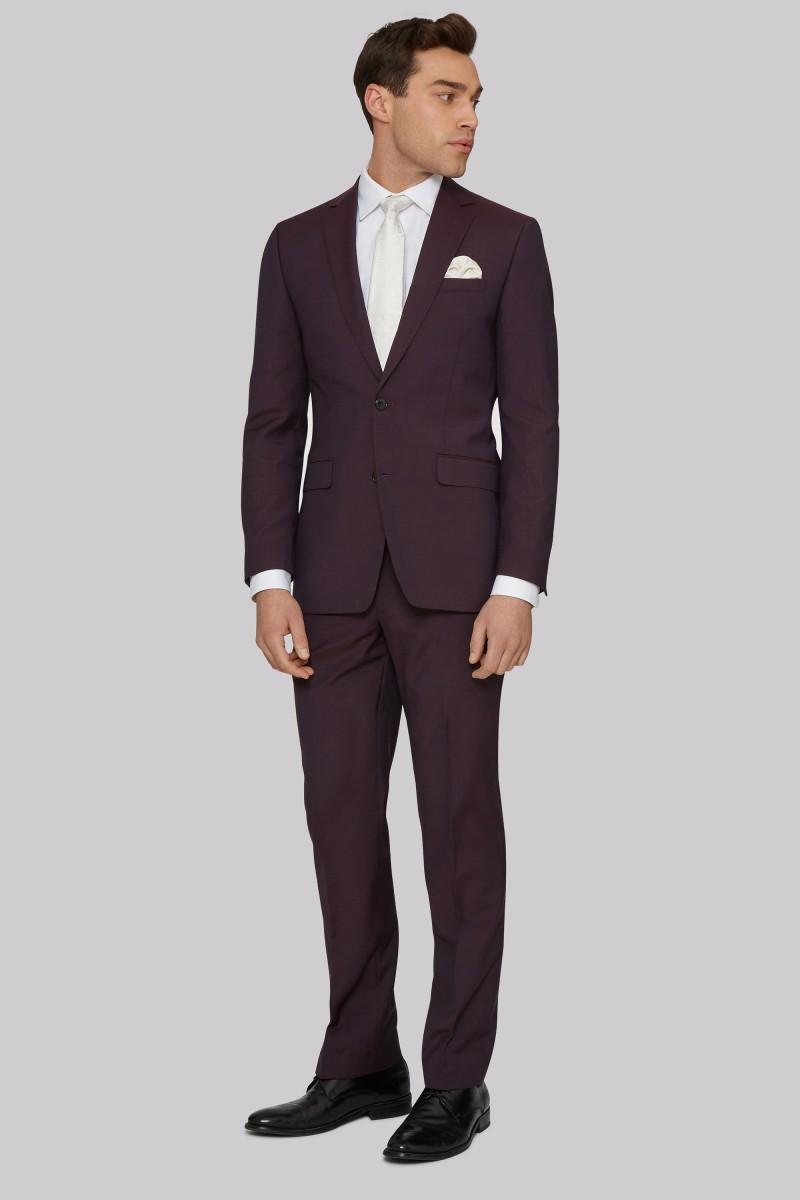 Scuro Borgogna uomini adatti ai vestiti degli smoking Per sposa in tre pezzi da sposa sposo su ordine Groomsmen Suits (Jacket + Pants + vest)
