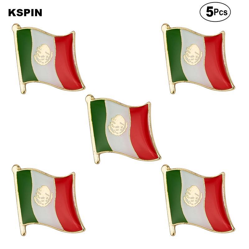 Drapeau du Mexique Brooches Épinglette insigne drapeau Broche Pins Badges d'un Lot