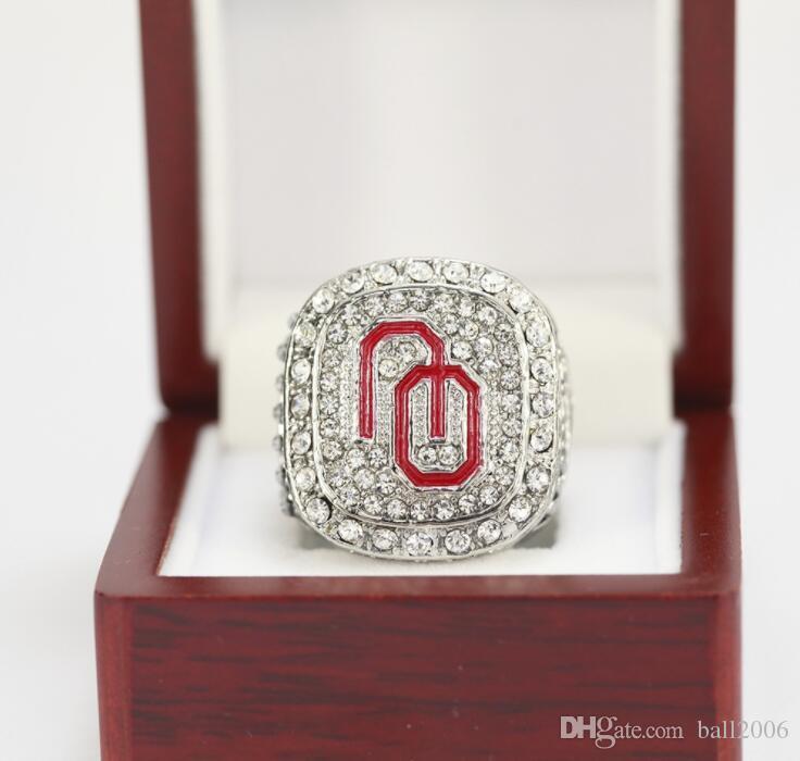 1985/1987/2015 Meister-Ring der Geburtstagsgeschenk-Fan-Gedenkensammlung der Universität von Oklahoma