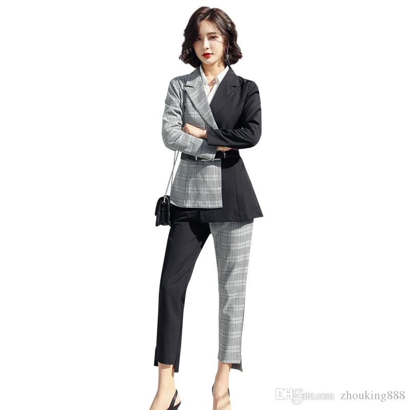 2021 Womens Suits Is Now Popular New Womens Fashion Mosaic Suit Two Piece Suit Jacket Pants Womens Business Casual Suit From Zhouking888 98 50 Dhgate Com