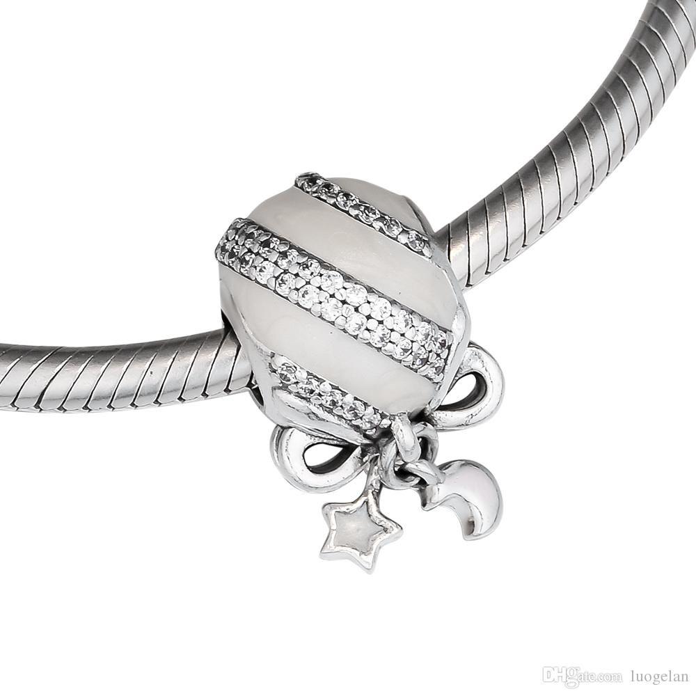 Calvas Hot Sale 925 Sterling Silver Beads Colour CZ Charms Bead Fit Original European Bracelets Authentic Pendant Jewelry for Gifts