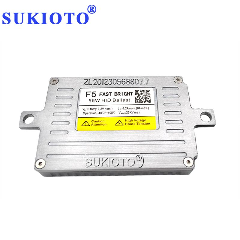 SUKIOTO AC 12V HID Xenon DLT Балласт 55W F5 Быстрый старт Тонкий блок розжига для фар автомобиля H1 H3 H7 H8 H11 HID Coversion Kit