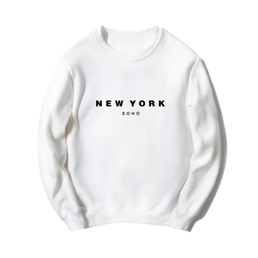 New York Soho Buchstaben Gedruckt Hoodies Frauen Männer Mode