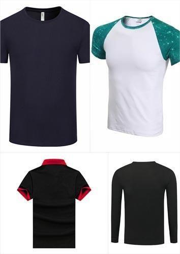 Klassische Männer POLO-Silk Fiber Short Sleeve Uniform T-Shirt oder Frauen lange Hemd WDSE-084
