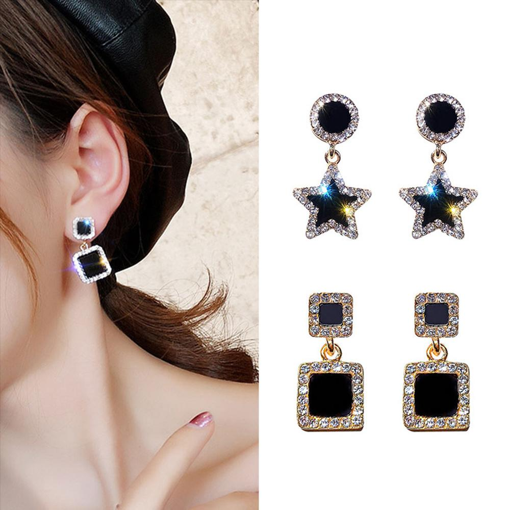 925 Silver New Design Fashion Jewelry Shinning Crystal Drop Earrings Elegant Wedding Party Earrings For Woman