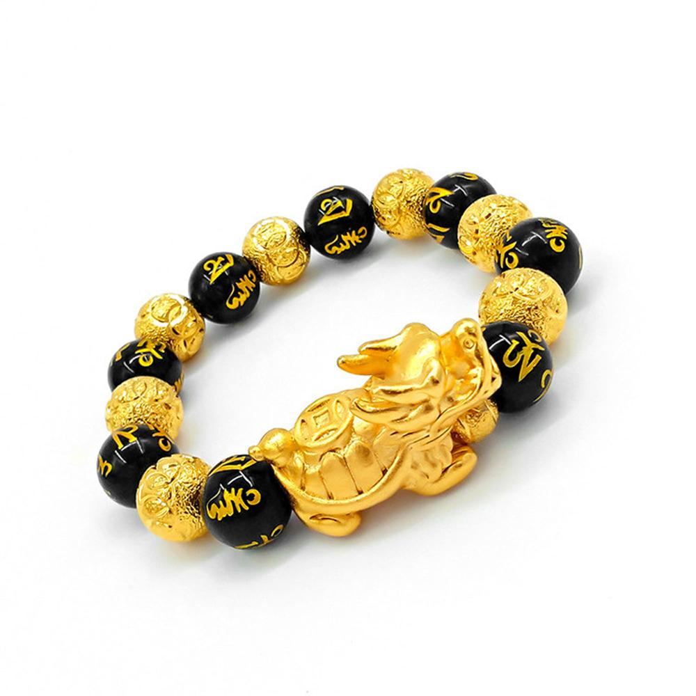Huilin Jewelry Black Beads Bracelets Feng Shui Wealth Pixiu Bracelet Jewelry Good Luck Bracelet For Men And Women Friendship Charm Bracelets Lucky Charm Bracelets From John687912 9 14 Dhgate Com