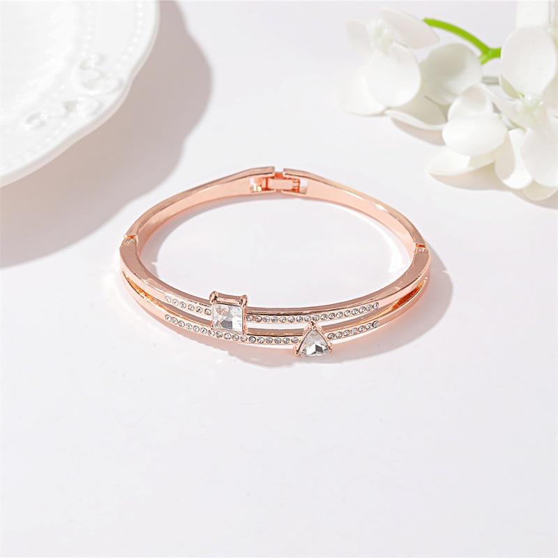 Bracelete De Decoração De Cristal De Alta Qualidade, Mulheres Bonitas, Acessório Com Brilhante Diamante Sintético.