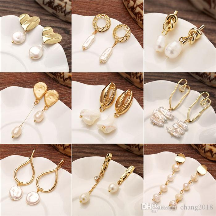 16 styles Vintage Earrings for women gold color Geometric statement earring 2018 metal earing Hanging fashion jewelry trend HZSEH F1324