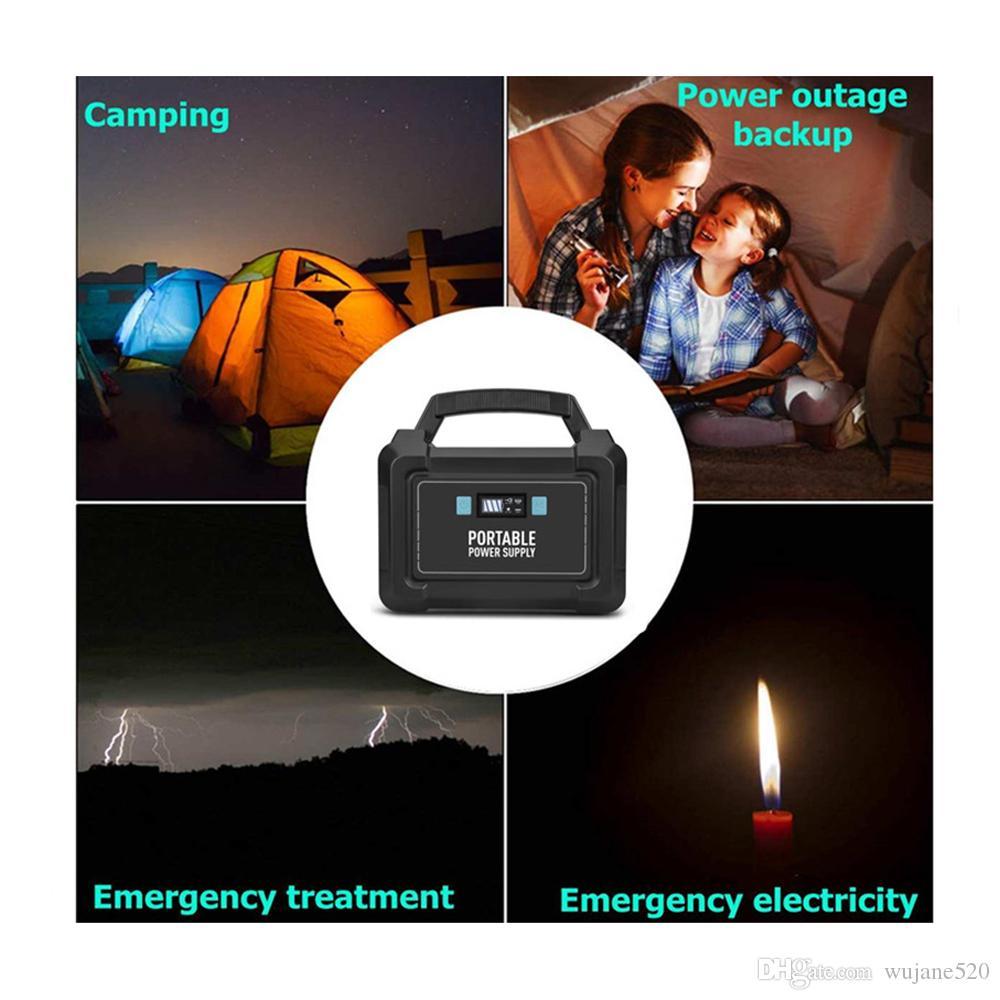 110 / 220V 148Wh 40000mAh 200W 휴대용 태양 발전기 전원 공급 장치 에너지 저장 홈 야외 발전 USB LCD 디스플레이
