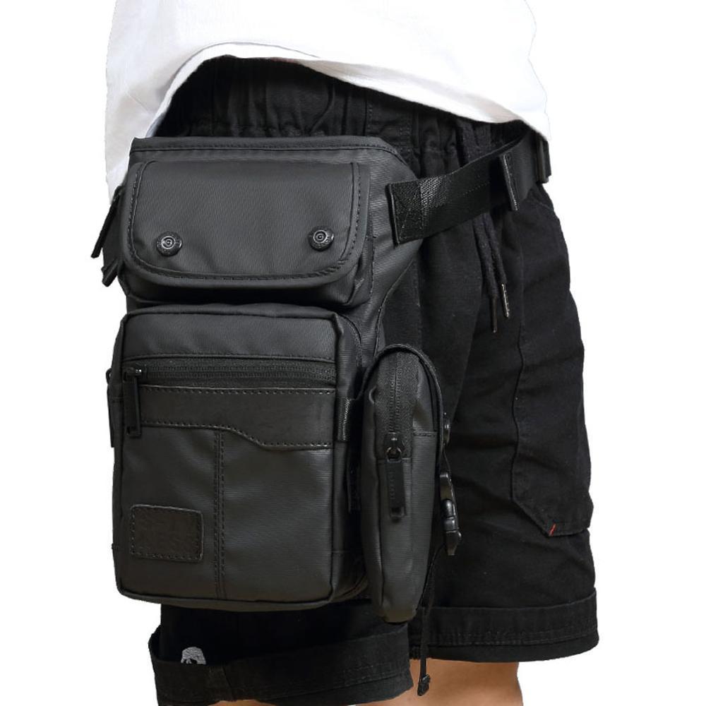 الرجال ماء أكسفورد قطرة الساق حقيبة الخصر فاني حزمة الفخذ هوب بوم حزام CROSSBODY رسول عارضة الكتف حقيبة السفر للدراجات النارية