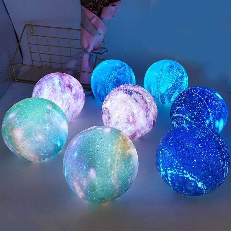 4 color new creative lights dream star lights 3D printing color Moon Lamp children's Christmas Lighting Toys T2I5676