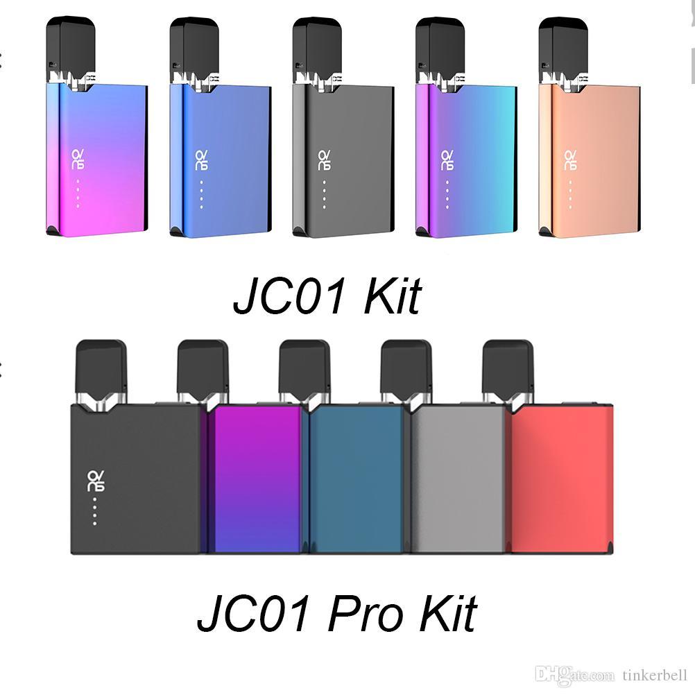 100% первоначально ОВНС JC01 JC01 Kit Pro Kit 400mAh VV Box Mod С 1,0 мл Empty Pod Refillable JC Картридж для густого масла Starter Kit